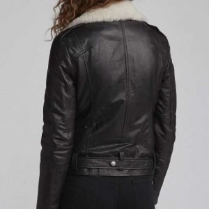 Love Life Sara Yang Black Motorcycle Leather Jacket