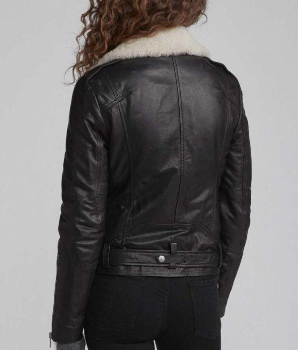 Love Life Sara Yang Black Motorcycle Leather Jacket