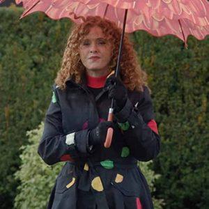 Deb Zoey's Extraordinary Playlist S02 Bernadette Peters Black Polka Dot Coat