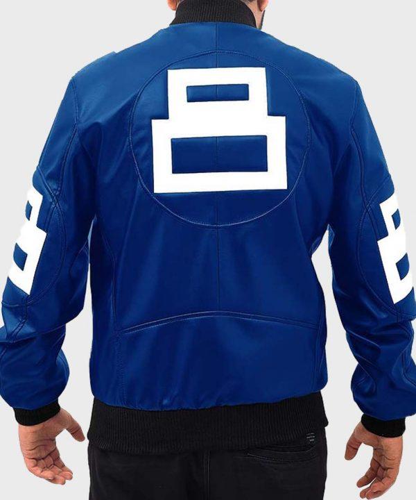 Material: PU Leather Inner: Viscose Lining Closure: Front Zipper Closure Collar: Rib-Knitted Collar Cuffs: Rib-Knit Cuffs Color: Blue