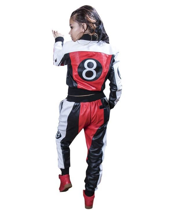8 Ball Leather Tracksuit for Mens and Womens