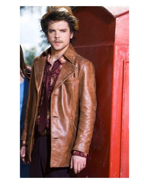 Hatter Alice Andrew Lee Potts Tan Brown Leather Jacket