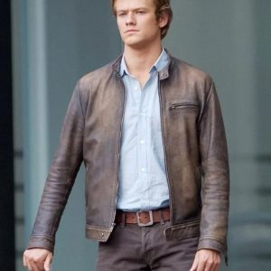 Angus MacGyver Distressed Leather Jacket Lucas Till MacGyver Jacket
