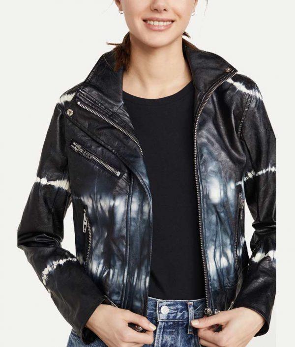 Nicole Kang TV Series Batwoman Season 02 Mary Hamilton Tie-dye Leather Jacket