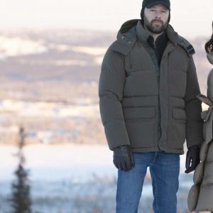 Peter Andersson TV Series Beartown Ulf Stenberg Puffer Jacket With Hood