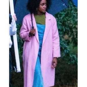 Louise Behind Her Eyes 2021 Pink Trench Simona Brown Coat
