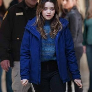 Grace Sullivan TV Series Big Sky Jade Pettyjohn Blue Cotton Hooded Jacket