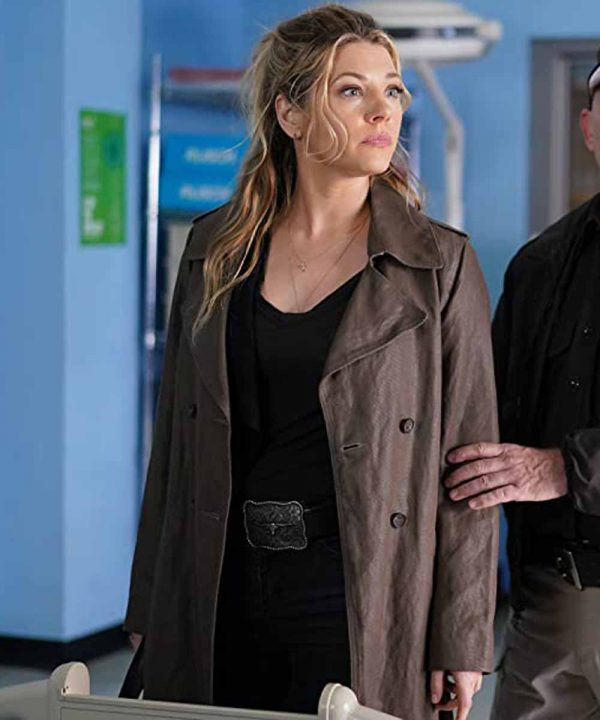 Jenny Hoyt TV Series Big Sky Katheryn Winnick Brown Trench Coat