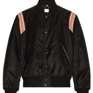 Thomas Forrester Bold and the Beautiful Matthew Atkinson Black Bomber Jacket