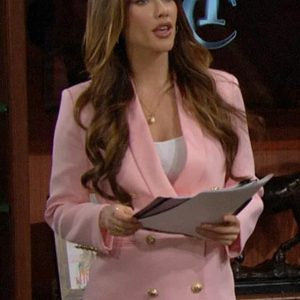 Steffy Forrester Bold and the Beautiful Jacqueline MacInnes Wood Pink Blazer