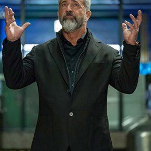 Mel Gibson Boss Level 2021 Col. Clive Ventor Black Blazer