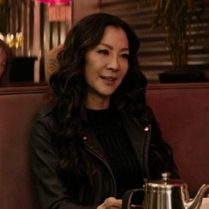 Michelle Yeoh Black Boss Level Dai Feng Leather Jacket