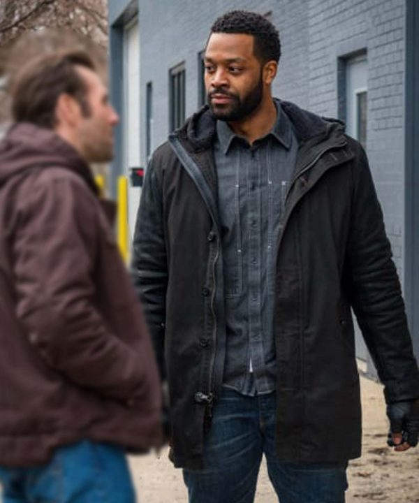 Kevin Atwater Chicago P.D. S07 LaRoyce Hawkins Black Cotton Jacket