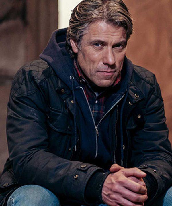 Dan TV Series Doctor Who S13 John Bishop Black Cotton Jacket