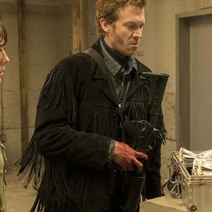 Russell Harvard Fargo Mr. Wrench Black Suede Leather Fringe Jacket