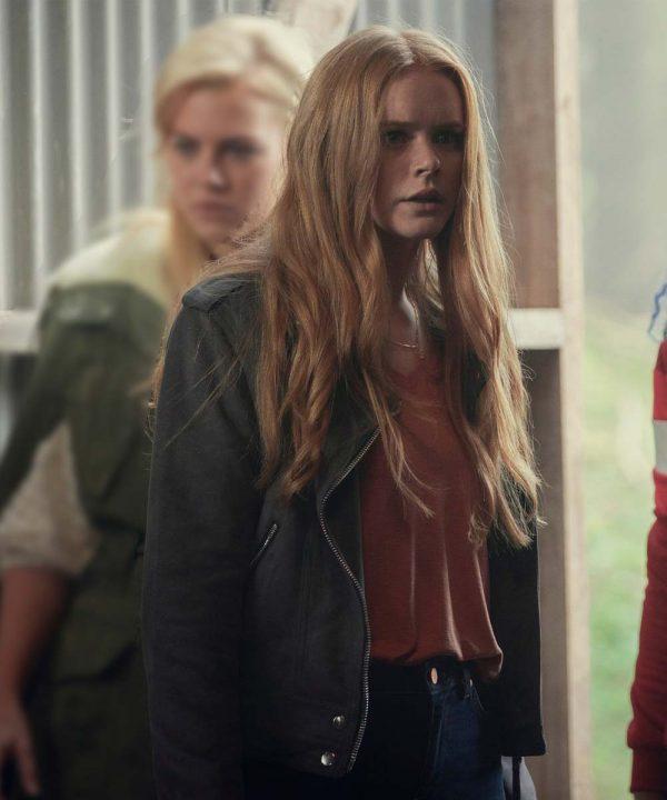 Abigail Cowen Fate The Winx Saga Bloom Black Leather Jacket