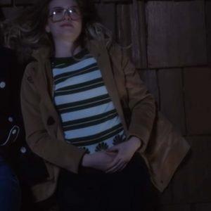 Sarah Chalke TV Series Firefly Lane Kate Mularkey Brown Wool-Blend Coat