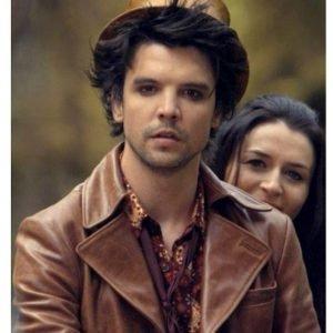 Andrew Lee Potts Jacket Alice Hatter Brown Leather Jacket
