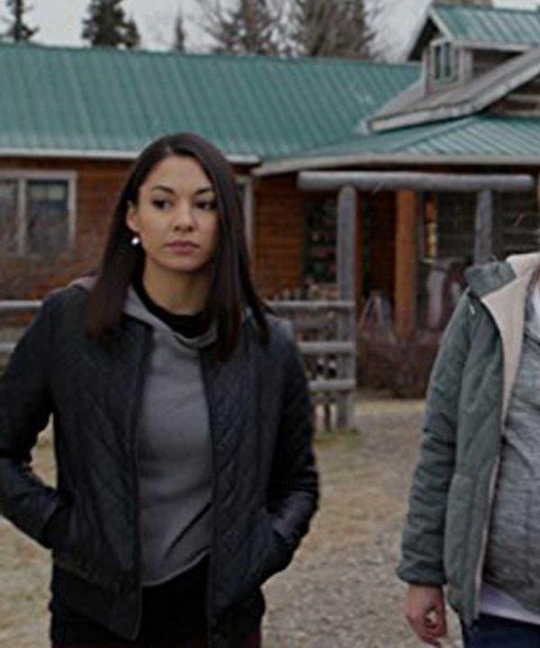 Madison Cheeatow TV Series Heartland Jade Virani Black Leather Jacket