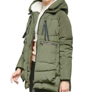 Ava Tran Heartland Season 14 Green Sherpa Puffer Jacket with Hood