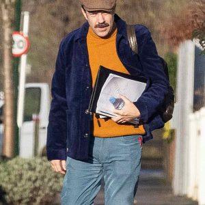 TV Series Ted Lasso Jason Sudeikis Blue Velvet Jacket
