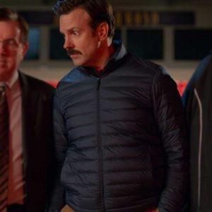 Jason Sudeikis TV Series Ted Lasso Black Puffer Jacket