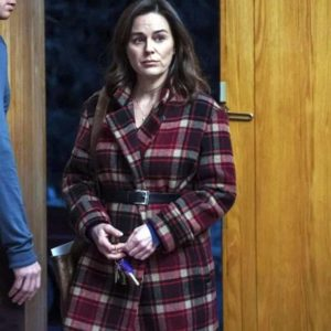 Jodie Checked Fringe Coat The Drowning Jodie Checked Coat