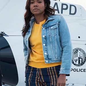 Sydney Burnett L.A.'s Finest Gabrielle Union Blue Denim Jacket