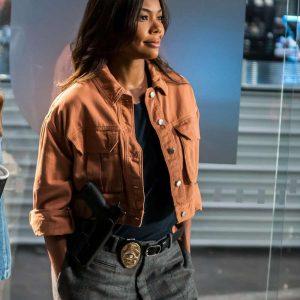 Sydney Burnett L.A.'s Finest Gabrielle Union Brown Denim Jacket