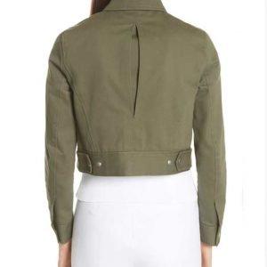 Macgyver Season 5 Desi Nguyen Green Cropped Jacket