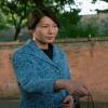 Tsai Meilin Little Big Women Ning Ding Blue Long Printed Coat