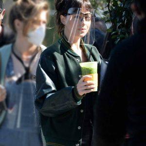 Dakota Johnson Am I OK 2021 Lucy Green Varsity Jacket