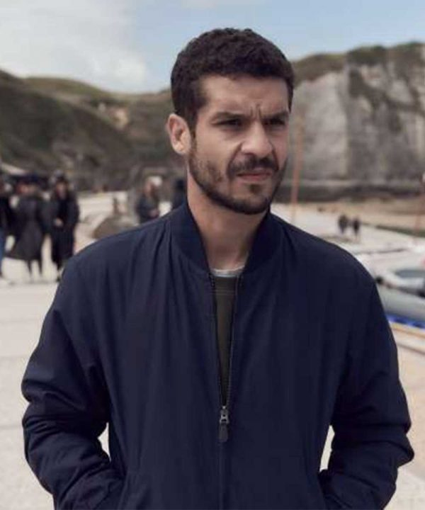 Youssef Guedira TV Series Lupin Soufiane Guerrab Black Bomber Jacket