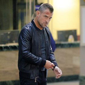 George Eads MacGyver Jack Dalton Black Leather Bomber Jacket