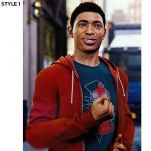 Miles Morales Hoodie Spider-Man Into the Spider Verse Hooded Jacket