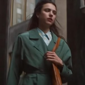 Joanna My Salinger Year 2021 Margaret Qualley Green Cotton Coat