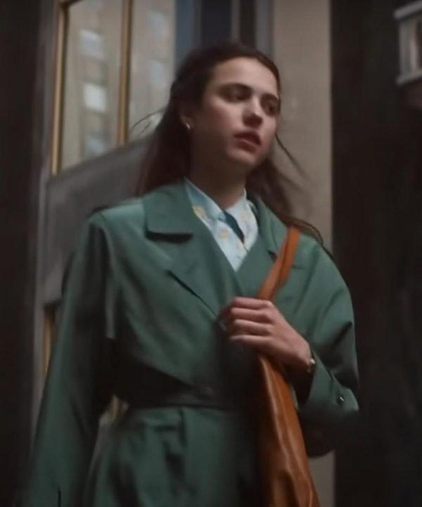 Joanna My Salinger Year 2021 Margaret Qualley Green Cotton Coat