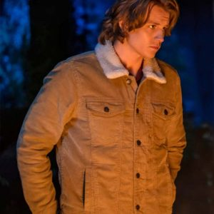 Ace TV series Nancy Drew Alex Saxon Brown Jacket with Fur Collar