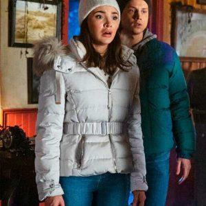 Maddison Jaizani TV Series Nancy Drew Bess Marvin White Parka Jacket