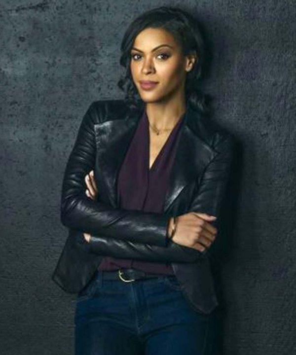 Detective Karen Hart TV Series Nancy Drew Black Leather Jacket