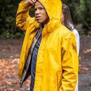 Tunji Kasim TV Series Nancy Drew Ned Nickerson Yellow Hooded Jacket