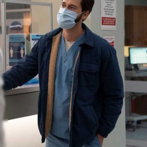 Ryan Eggold TV Series New Amsterdam Dr. Max Goodwin Blue Cotton Jacket