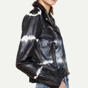Season 02 Mary Hamilton Tie-dye Leather Jacket