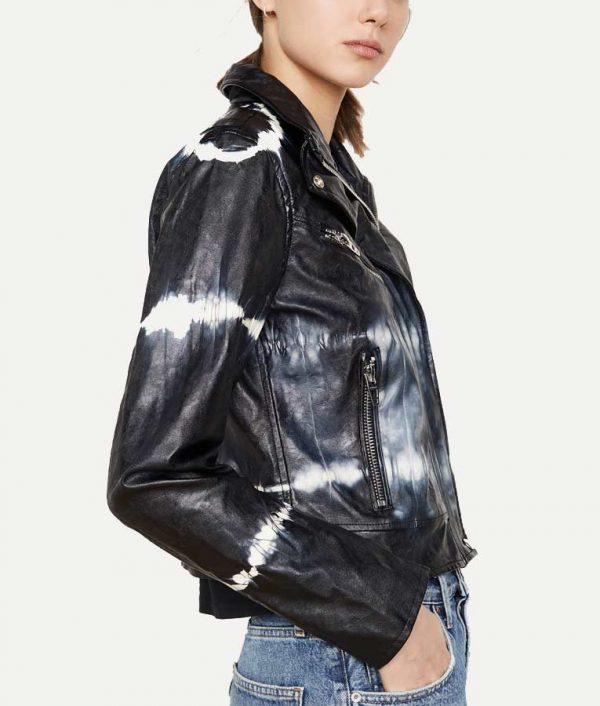 Season 02 Mary Hamilton Tie-dye Leather Jacket