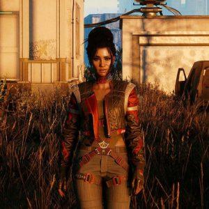 Red & Gray Cyberpunk 2077 V Panam Palmer Cosplay Jacket