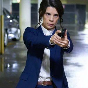 Meredith MacNeill TV Series Pretty Hard Cases 2021 Samantha Wazowski Blue Blazer