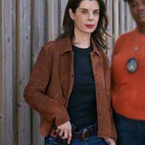 Meredith MacNeill TV Series Pretty Hard Cases Samantha Wazowski Suede Leather Jacket