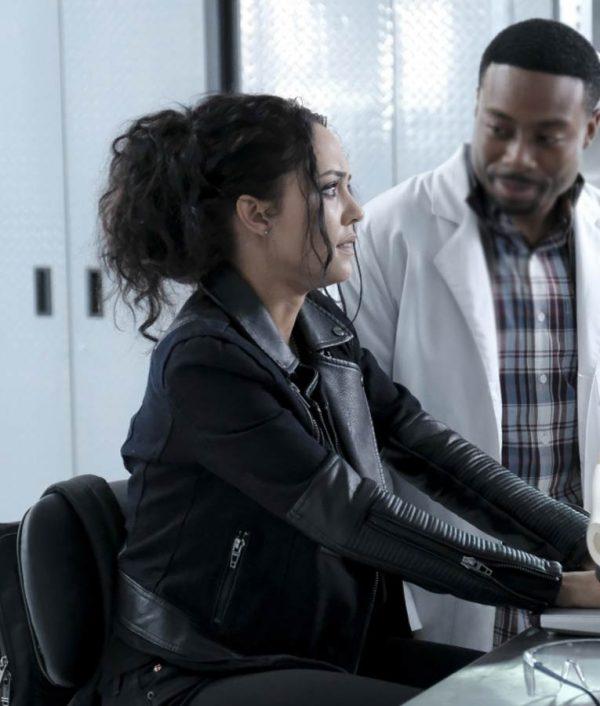 Tristin Mays MacGyver Black Leather Riley Davis Jacket