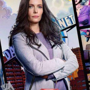 Lane TV Series Superman & Lois Elizabeth Tulloch Suede Leather Jacket