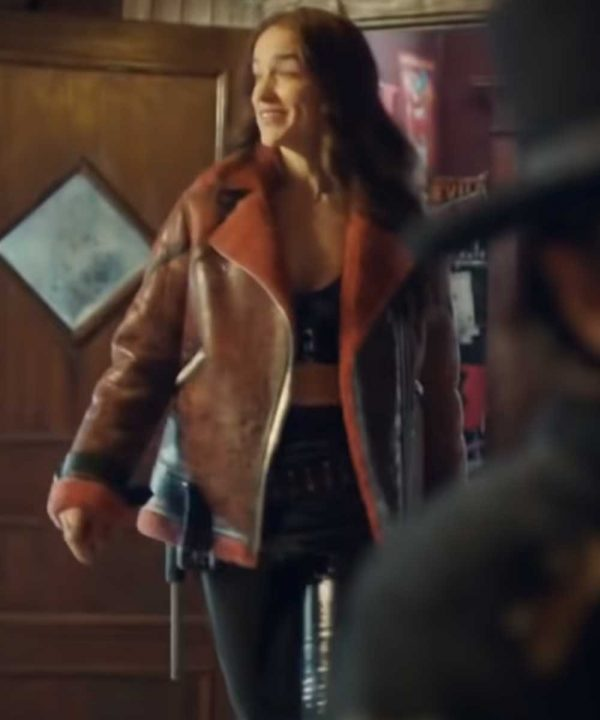 Melanie Scrofano Wynonna Earp Shearling Jacket